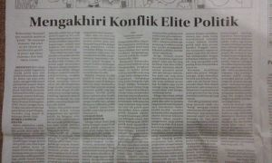 "Tulisanku di Kolom Wacana Radar Cirebon, Selasa 16 Desember 2014, ""Mengakhiri Konflik Elite Politik"""