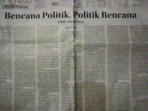 "Tulisanku di Kolom Wacana Radar Cirebon, Senin 29 Desember 2014 ""Bencana Politik, Politik Bencana"""