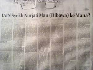 """Tulisanku di Kolom Wacana Radar Cirebon, Jumat 19 """"IAIN Syekh Nurjati Mau (Dibawa) Ke Mana?"""""""