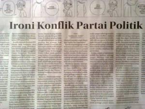 "Tulisanku di Kolom Wacana Radar Cirebon, Jum'at 5 Desember 2014, ""Ironi Konflik Partai Politik"""
