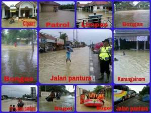Banjir di beberapa tempat di Kabupaten Indramayu-Jawa Barat