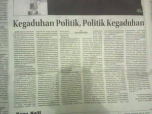 Kegaduhan Politik, Politik Kegaduhan