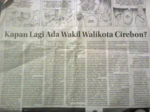 Kapan lagi ada Wakil Walikota Cirebon?