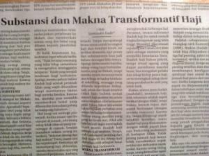 Substansi dan Makna Transformatif Haji