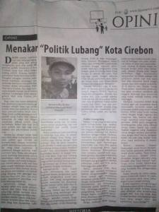 Tulisan ini dimuat pada halaman 10 Kolom Opini Harian Umum Fajar Cirebon, Kamis 24 Maret 2016