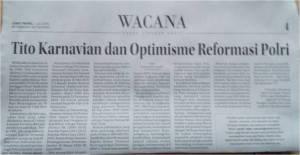 Tito Karnavian dan Optimisme...